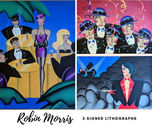Robin Morris — SET OF 3 — Signed Lithographs PRICED to SELL — EXCELLENT $395.00