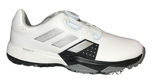 New Adidas Jr. Adipower BOA Golf Shoes Size 3M Style F33535 White Kids Shoes $44.97