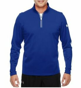 NWT Under Armour Mens UA Qualifier 1 4 Zip Pullover 1276312 Blue White XL $29.99