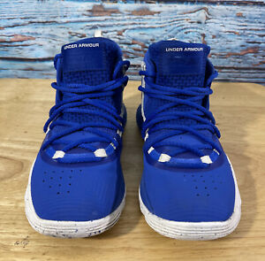 Baby UNDER ARMOUR Shoes Size 13K Stephen Curry Blue And White $22.99