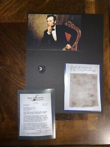 Abraham Lincoln Blood Stained Deathbed fabric Relic Piece President $99.00
