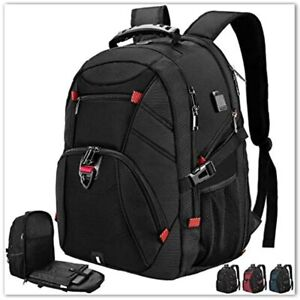 Extra Large Laptop Backpack 17 Inch Travel Waterproof Backpacks Anti Theft Men