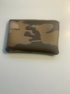 Coach Camouflage Wristlet Zippered Bag Missing The Strap