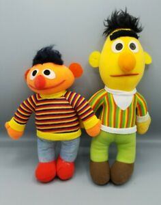 Vintage Bert And Ernie Stuffed Dolls 1984 1985 Sesame Street Playskool Hasbro