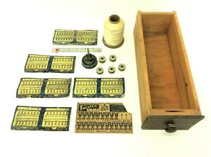 Mixed Antique amp; Vintage Used Spools Clinton Rust Proof Hooks Loops Sewing Drawer $40.00