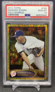 2012 Topps Mariano Rivera Gold Sparkle SP Yankees PSA 10 Gem Mint POP 3 RARE $34.99