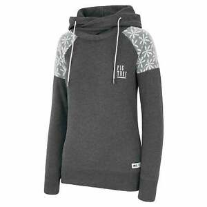 Picture Hello Women#x27;s Hoodie Dark Grey Melange