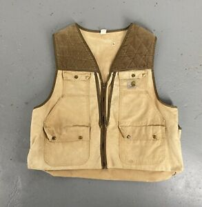 VINTAGE 70s CARHARTT HUNTING VEST MADE IN USA YKK