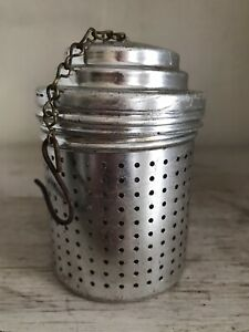 Vintage Tea Strainer Infuser Steeper Aluminum Makes 2 6 CUPS LARGE 3quot; $7.75