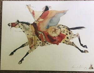 Carol Grigg Lithograph Signed Red Wing Turning 30 X 21 Unframed Print $40.00