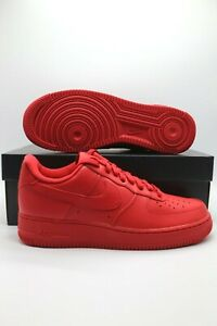 Nike Air Force 1 Retro 07 LV8 Low Triple Red Sneakers CW6999 600 Mens Sizes $104.97