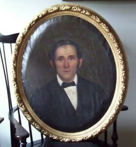 Early antique Canvas painting of a Gentlemen $185.00