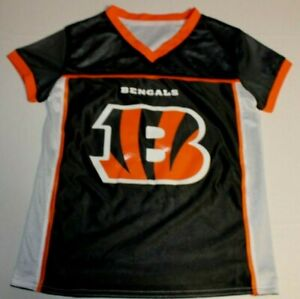 NFL Football Flag Reversible Jersey Cincinnati Bengals Jersey Youth S Small