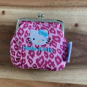 Vintage Small Pink Hello Kitty Coin Purse Pouch