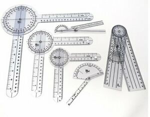 Set of 6 Piece Spinal Finger Goniometer Protractor Ruler 360 Degree 12 inch 8... $36.78
