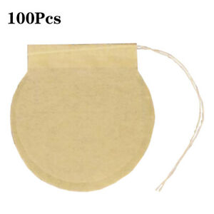 100Pcs Pack Tea Bag Tea Filter Filter Coffee Paper Color Natural Type Unbleached $9.39