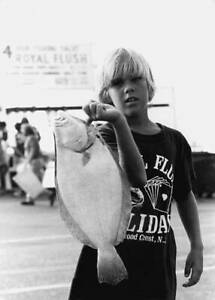 Summer Flounder In Wildwood Crest New Jersey 1978 OLD FISHING PHOTO