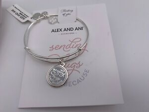 NEW Alex and Ani SENDING HUGS JUST BECAUSE CELEBRATE Charm Bangle Bracelet $37.99