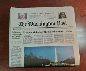 Washington Post Special Inauguration Edition January 20 Joe Biden 46th 1 20 2021