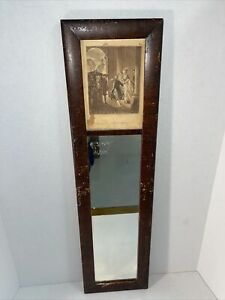 Antique Wall Mirror With Victorian Painting $149.99