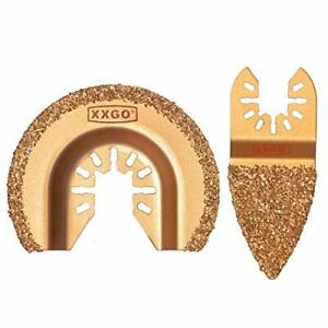 XXGO Carbide Oscillating Multitool Saw Blades Kits Semicircle Finger for Grit...