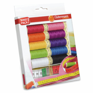 Gutermann Thread Set: Sew All: 10 x 100m and Measuring Tape: Assorted GBP 14.91