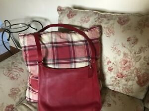 Vintage Red Leather Coach Purse