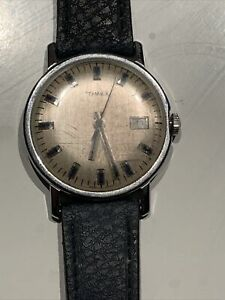 Vintage Timex Watch Not Working Stainless Steel Back