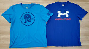 Under Armour Mens Shirts Size 2XL Loose Heat Gear Lot of 2 Blue $33.24