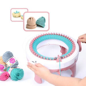 Set of DIY Hand Knitting Machine 48 Weaving Loom Hat Scarf Kids Play Toy