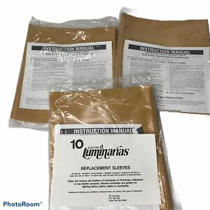 Gold Brown Electric Luminarias Replacement Sleeves Lot of 30 NEW