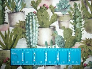 Cactus Garden Floral David Textile Crafting Sewing Quilting Cotton Fabric YARD $10.36