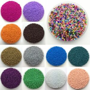 2mm4mm 1000pcs Seed Beads Spacer Glass Charm Czech Round Jewelry Making Diy