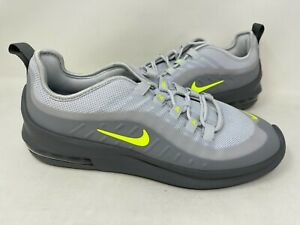 NEW Nike Mens Air Max Axis Shoes Lace Up Grey Neon Yellow #AA2146 128W tz $62.99