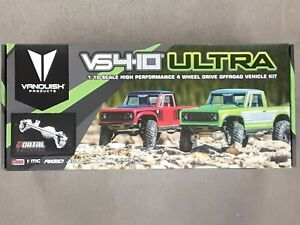Vanquish Products VS4 10 Ultra Rock Crawler Kit w Origin Half Cab Body Silver