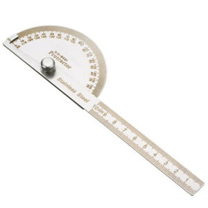 180° Stainless Steel Protractor Angle Meter Ruler Construction Woodwork Tool $3.85