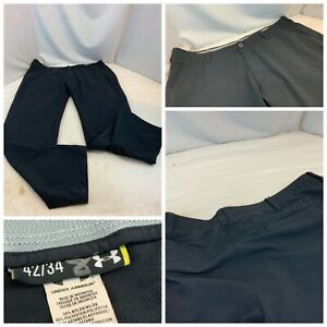 Under Armour Golf Pants 42x34 Black Nylon Poly Lycra Flat Mint YGI B1 39 $31.18