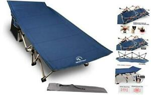 Folding Camping Cots for Adults 500lbs Double Layer Oxford Strong Heavy Blue