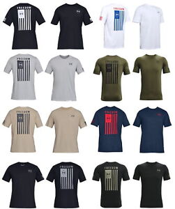 Under Armour Men#x27;s Freedom Flag T Shirt Athletic Tee 1333350 New 2021