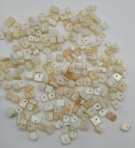 95 grams Mother of Pearl MOP Bead Chips; White Cream Color; LAST TWO $4.35