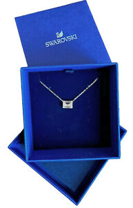 SWAROVSKI Crystal square ATTRACT Pendant silver Necklace new authentic 5568014 $39.18