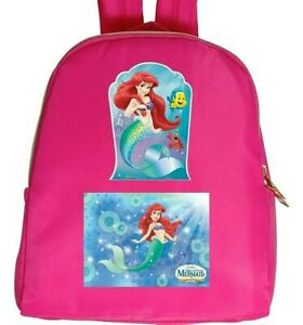 1 1 Buy LITTLE MERMAID Poly Backpack in Pink Get FREE Cotton Shirt Size 4 12