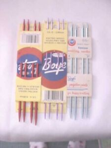 Boye Knitting Needles Vintage Lot Of 3 Packs 3 Sizes 0 4 and 6 New In Package $9.92