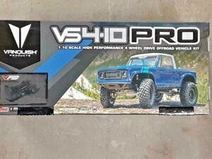 Vanquish Products VS4 10 Pro Rock Crawler Kit w Origin Half Cab Body Silver New