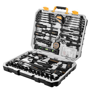 218 Piece General Household Hand Tool Kit Auto Repair Tool Set for Home DIY