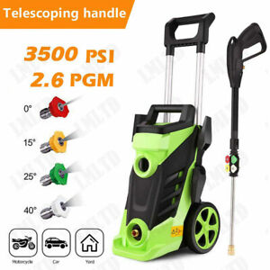 3500PSI 2.6GPM Electric Pressure Washer 1800W High Power Cleaner Water Sprayer $129.99