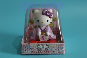 Cute solar shaking head purple kimono Hello Kitty Figure Car Home Decor Gift