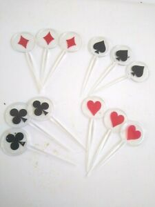 Casino Card Suit Design Food Cocktail Picks 12 Ct Package Assorted