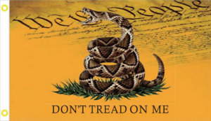 USA LIVE SNAKE GADSDEN DONT TREAD ON ME WE THE PEOPLE FLAG 3X5 FLAGS 68D NYLON $7.94