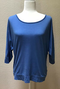 Eileen Fisher Top Shirt Blue Women's Size Small Silk Blend Blouse $29.99
